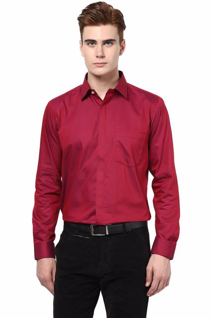 Maroon Color  Cotton Shirt /SRM820001
