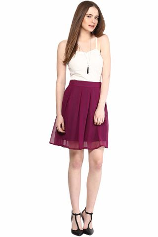 Casual Wear Skirt In Solid/SKF350099