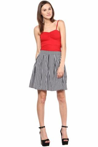 Short Skirt In Stripe Print /SKF350098