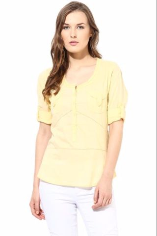 Casual Top With Fagetting Detail/TSF400411