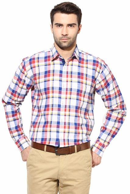 Premium  100% Cotton Shirt Red Check Color/SRM820053