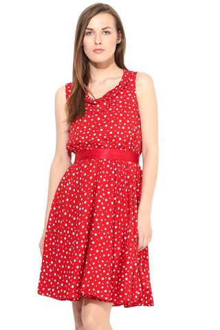 Dress In Polka Dot-DRF500097
