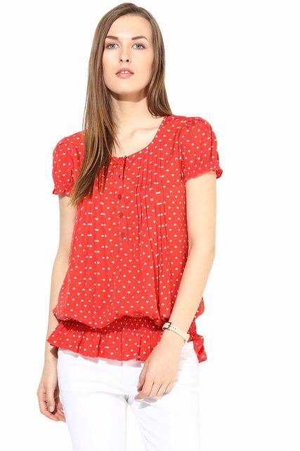 Casual Top In Printed Fabric-TSF400103