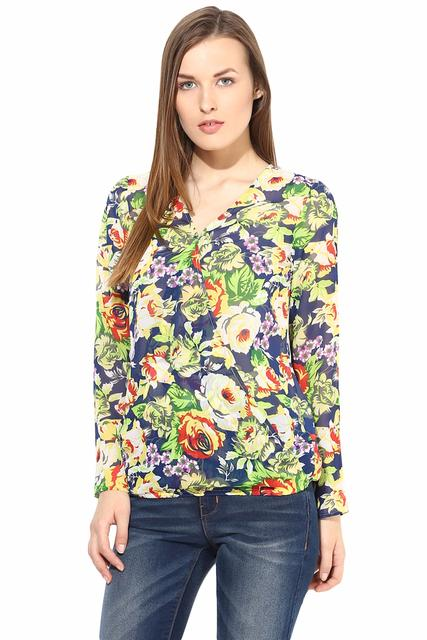 Casual Top In Printed Fabric-TSF400185