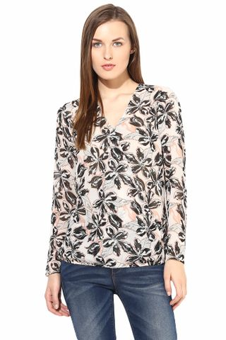 Casual Top In Printed Fabric-TSF400186