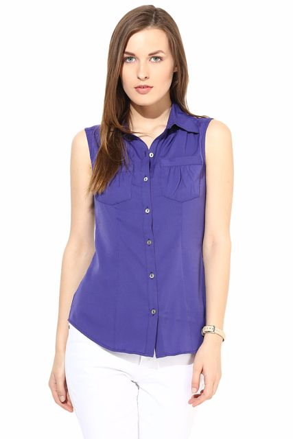 Casual Solid Top-TSF400191