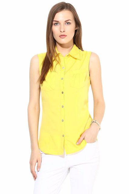 Casual Solid Top-TSF400193