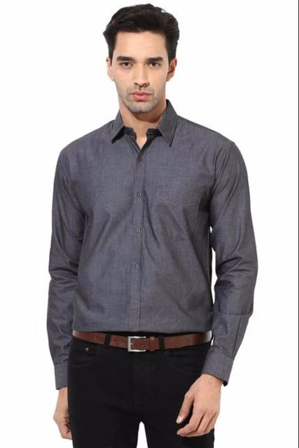 Premium  100% Cotton Shirt Black Color/SRM820039