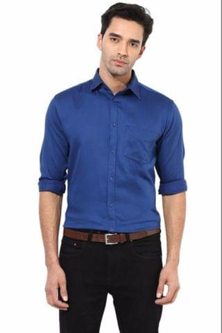 Premium  100% Cotton Shirt  Blue Color/SRM820045