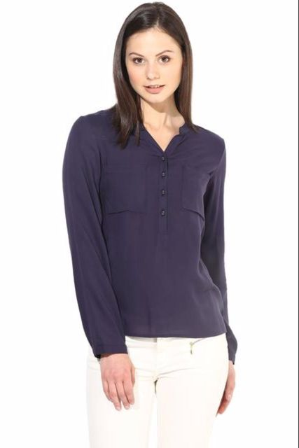 Casual Solid Top With 3/4 Sleeve/TSF400189