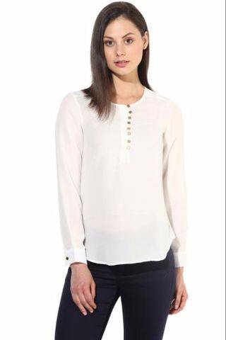 Offwhite Casual Top In Solid/TSF400243
