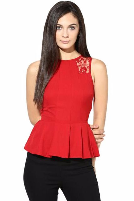 Casual Top With Lace/TSF400057