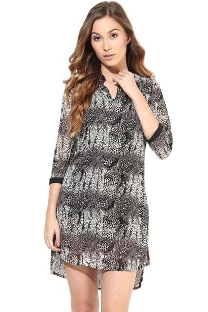 Casual Dress In Printed Fabric/DRF500214