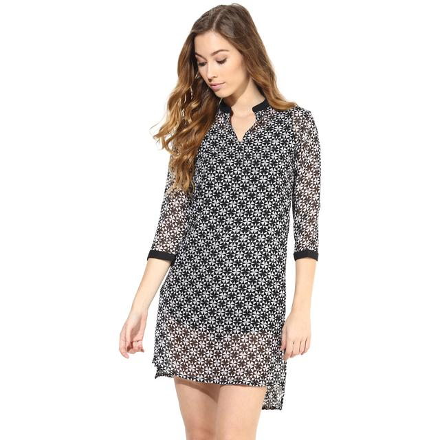 Casual Dress In Printed Fabric/DRF500215