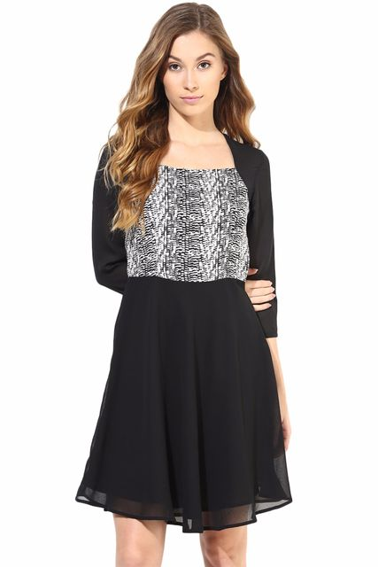 Casual Dress With Center Front Zip/DRF500224