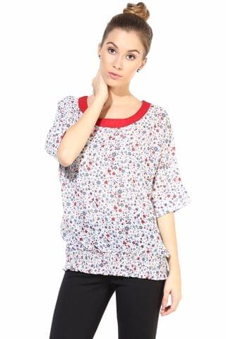 Offwhite  Casual Top In Printed Fabric/TSF400320