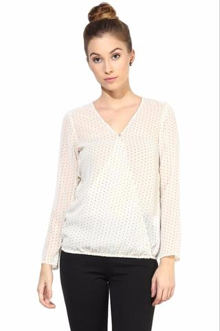 Offwhite  Casual Top In Printed Fabric/TSF400332