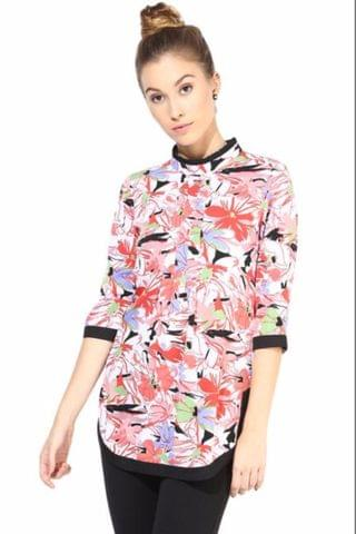 Casual Top In Printed Fabric/TSF400360