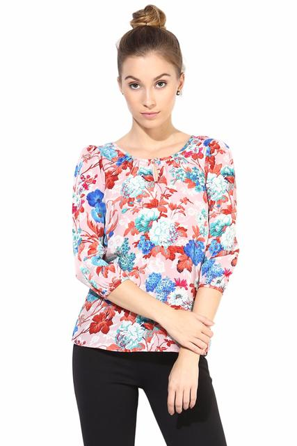 Casual Top In Printed Fabric/TSF400362