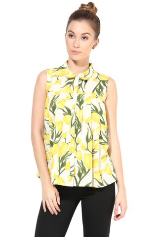 Casual Top In Printed Fabric/TSF400364