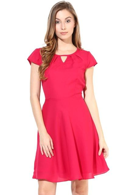 Summer Cool Dress In Fuchsia Color/DRF500273
