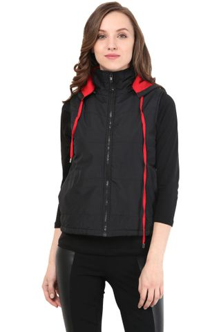 Black Jacket In Polyamide Fabric/JKF400146