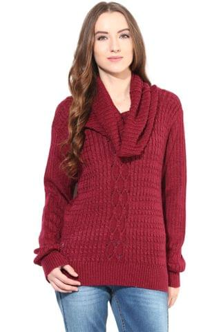 Marsala Cowl Cable Knit/SWF460057