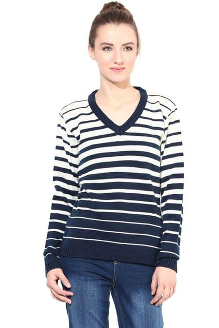 Blue/Off White Striper Thick/SWF460062