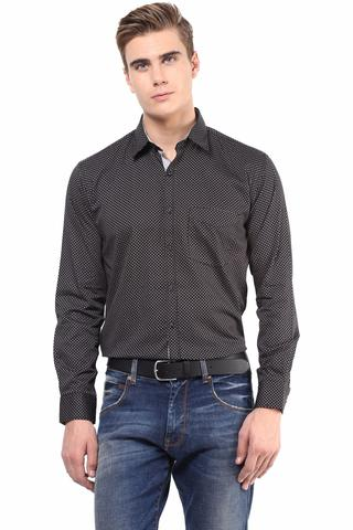 Premium  100% Cotton Printed Shirt Black Color/SRM820078
