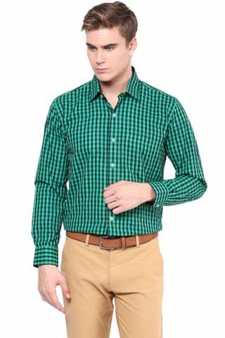 Premium  100% Cotton Check Shirt Green Color/SRM820091