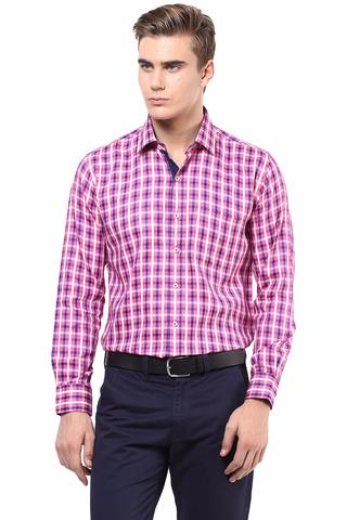 Premium  100% Cotton Check Shirt Pink Color/SRM820101