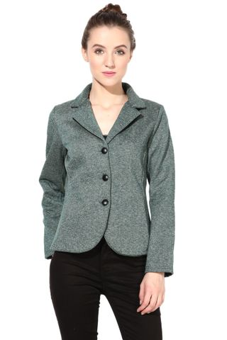 Polar Fleece Jacket In Green Color/JKF450003