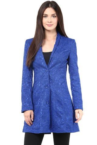 Lace Bonding Light Weigh Jacket In Blue Color/JKF450047