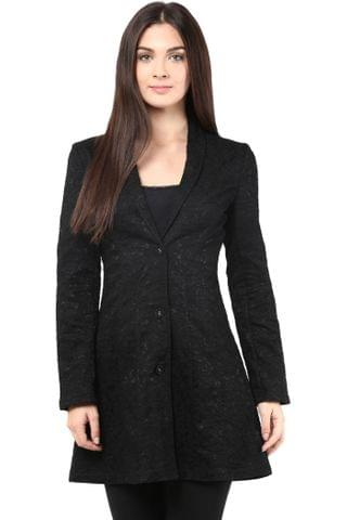 Lace Bonding Light Weigh Jacket In Black Color/JKF450125