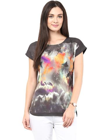 Digital Print Tee In Multi Color/TSF400376
