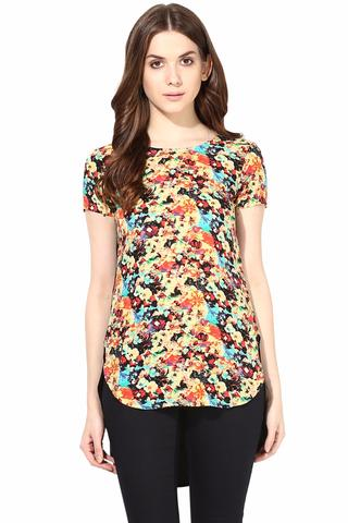 Casual Top In Multi Color Poly Crepe/TSF400474