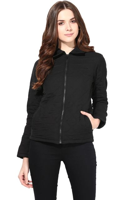 Summer Cool Jacket In Black Color With Inner Fleece Fabric/JKF450132