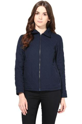 Summer Cool Jacket In Navy Blue Color With Inner Fleece Fabric/JKF450133