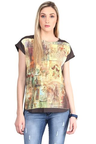Digital Print Tee In Multi Color/TSF400374