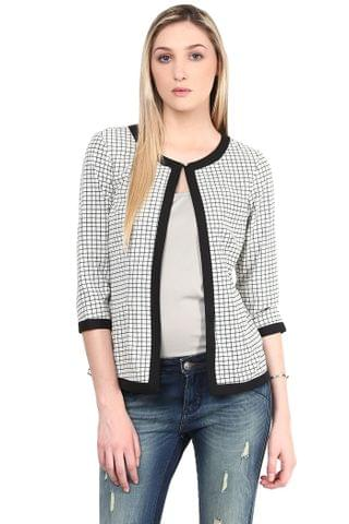 Summer Cool Jacket In Black And White Checks/JKF450151
