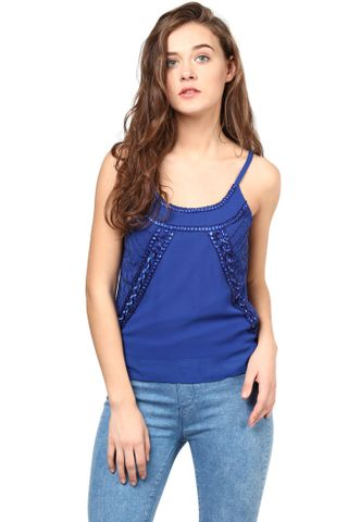Blue Top With Emblishment/TSF400263