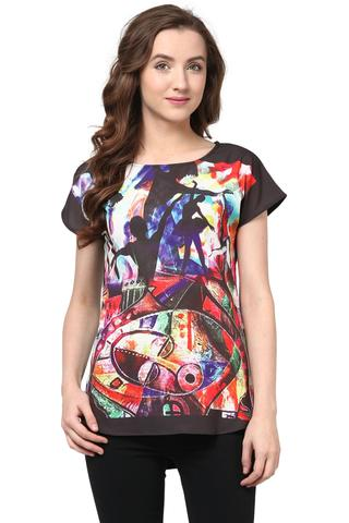Digital Print Tee In Multi Color/TSF400530