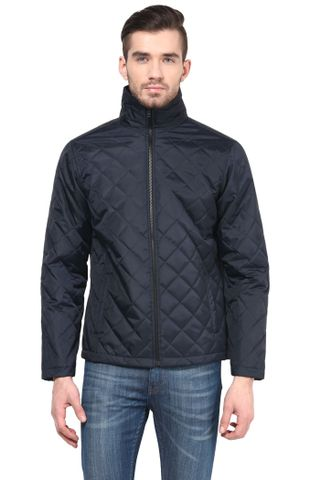 Men'S Polyamide Quilted Jacket In Blue Color/JKM450177