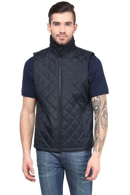 Men'S Polyamide Quilted Jacket In Blue Color/JKM450175
