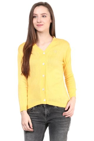 Yellow V Neck Line With Short Sleeve/SWF460021