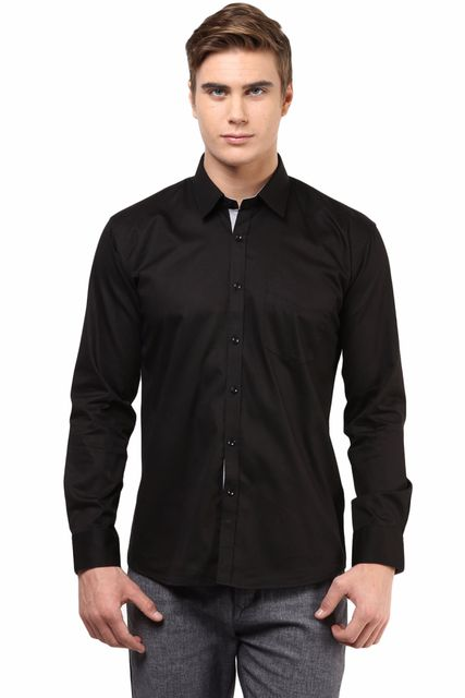Premium  100% Cotton  Shirt Black Color/SRM820136