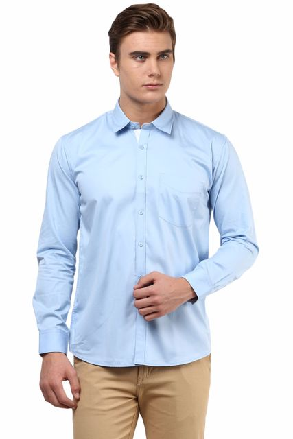 Premium  100% Cotton  Shirt Blue Color/SRM820133