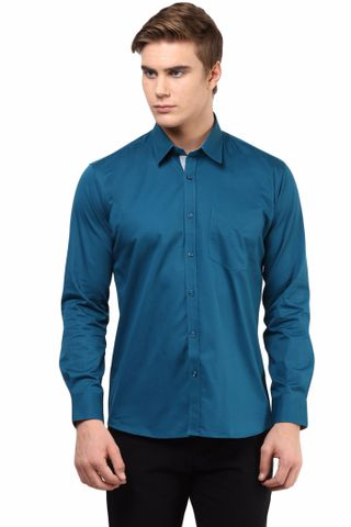 Premium  100% Cotton  Shirt Teal Color/SRM820132