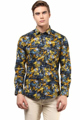 Premium  100% Cotton Printed Shirt Multi Color/SRM820125