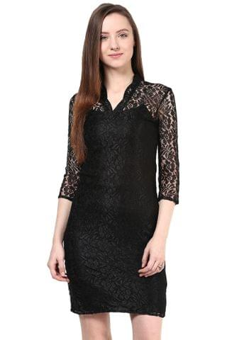 Western Wear Short Drees In Lace/DRF500014